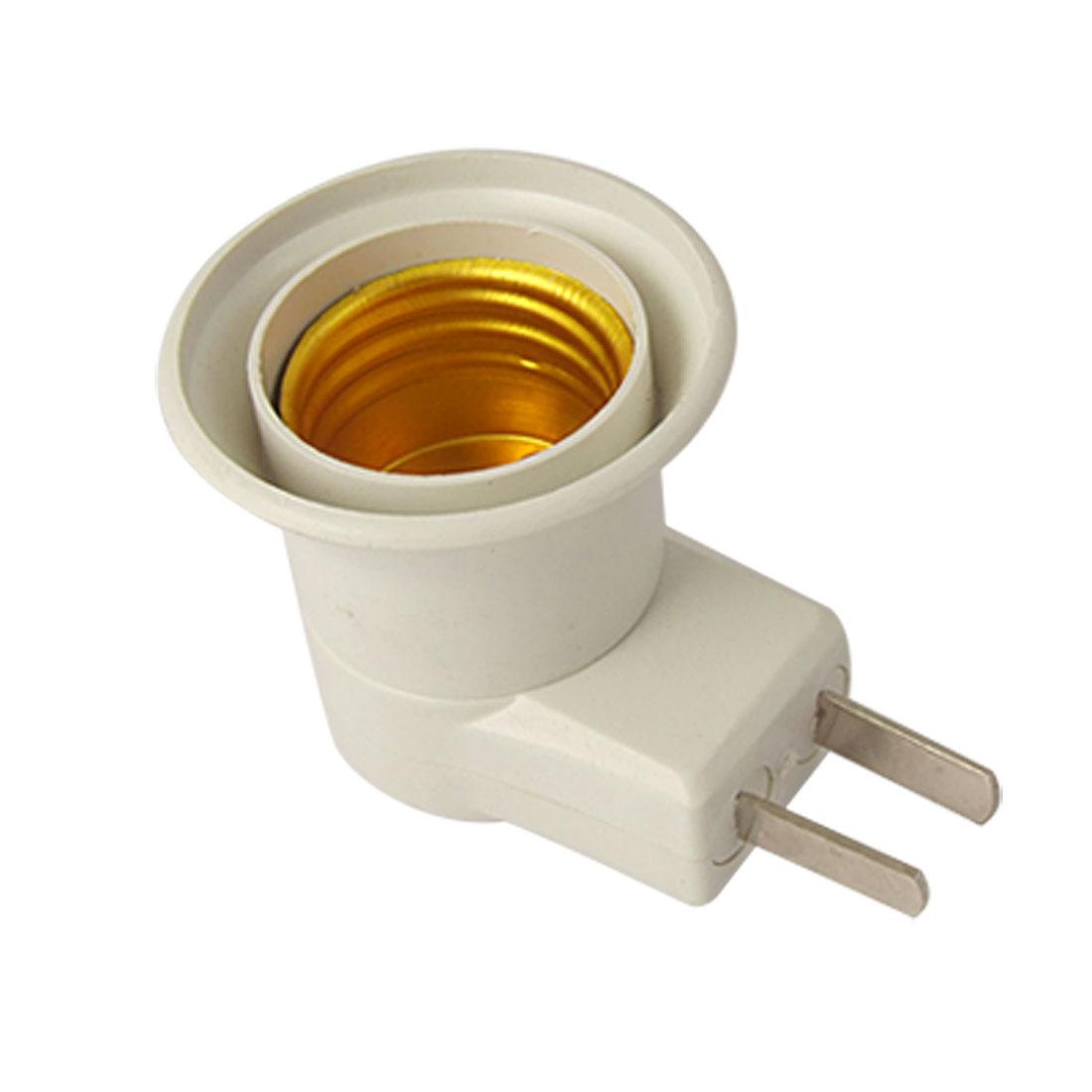 2 Pin AU US Plug AC 220V 4A E27 Light Lamp Bulb Socket White