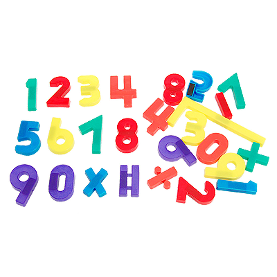Colorful Plastic Arabic Numbers Arithmetic Symbol Magnetic Sticker 26 Pcs