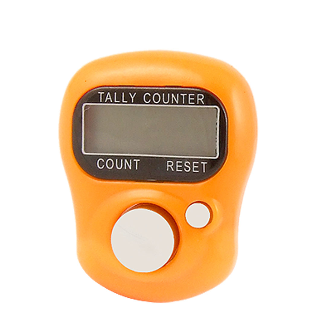 Plastic Band Orange Electronic LCD Finger Tally Counter