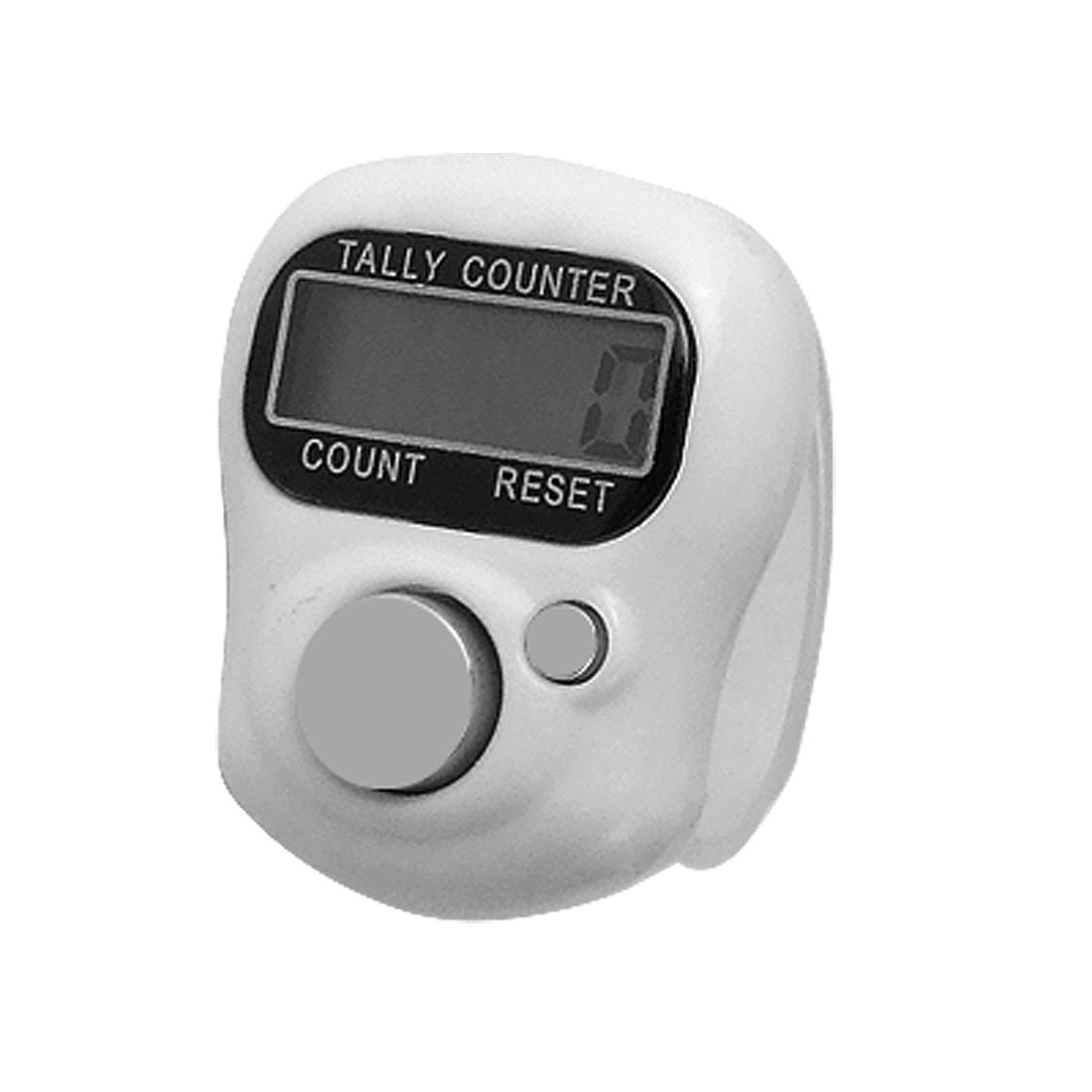 Adjustable Strap 0-99999 Bold Digital Finger Counter White