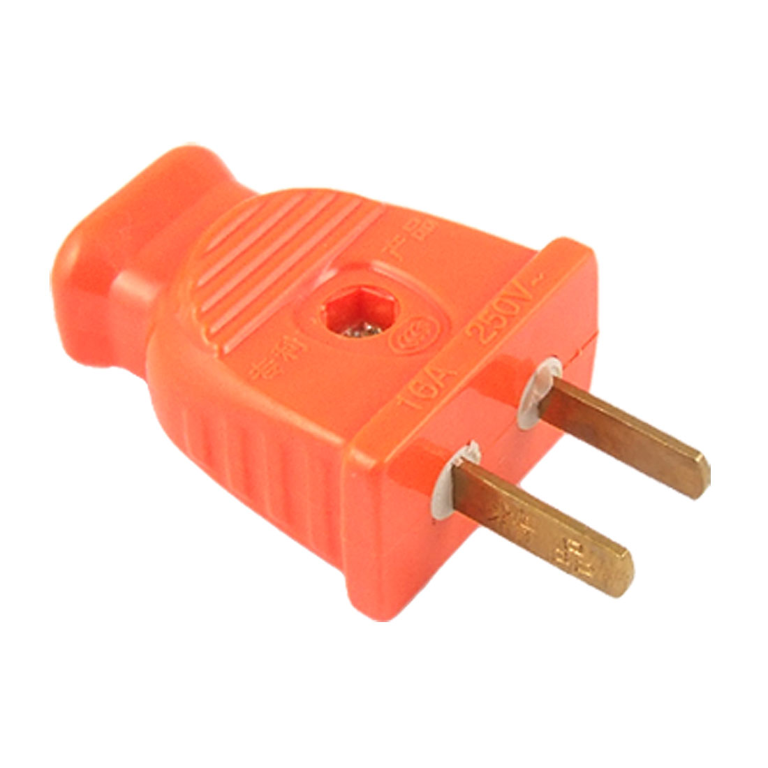 US AU 2 Pin Plug 16A 250VAC DIY Cable Connector Orange Red