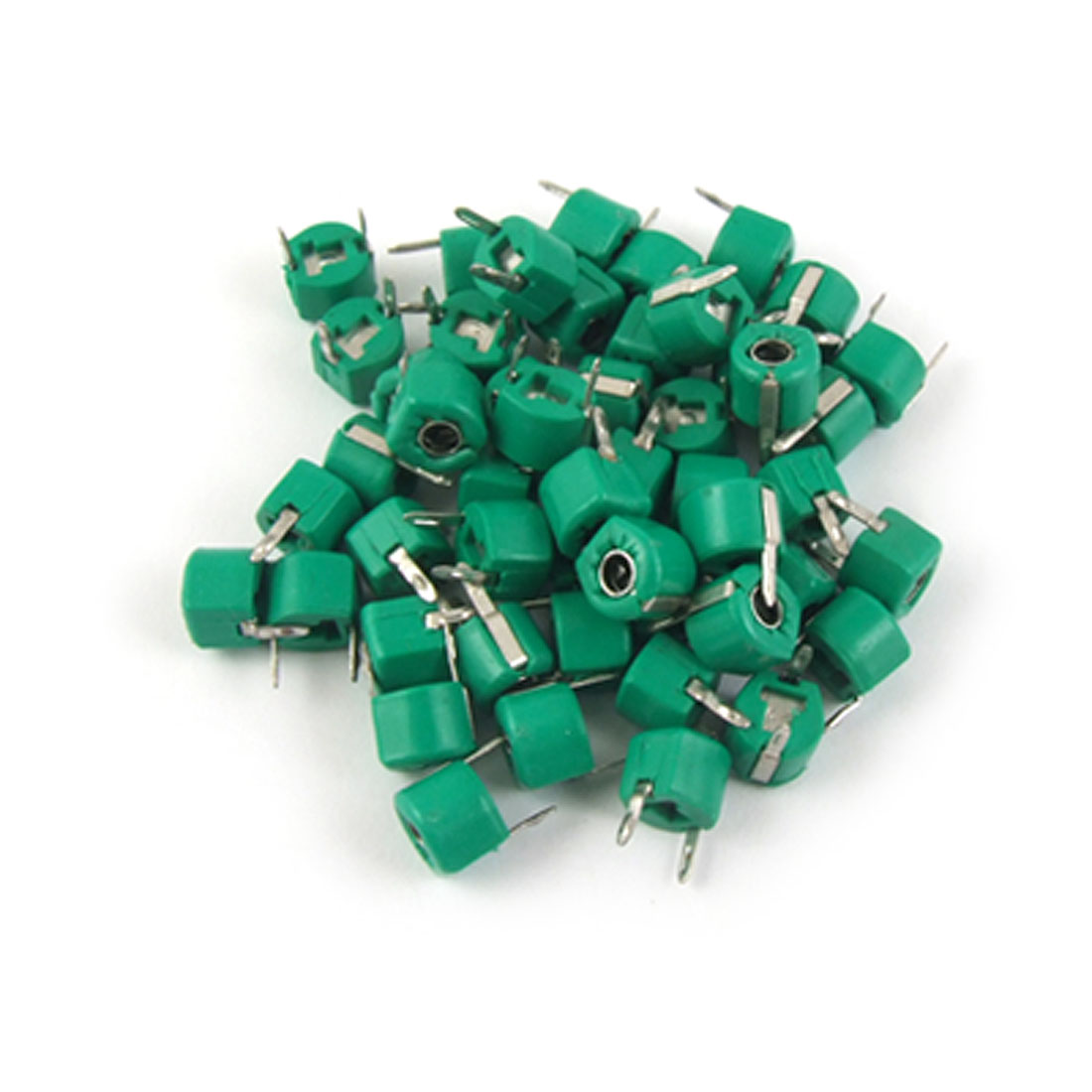30pF Plastic Green Case Adjustable Trimmer Capacitors 50 Pcs