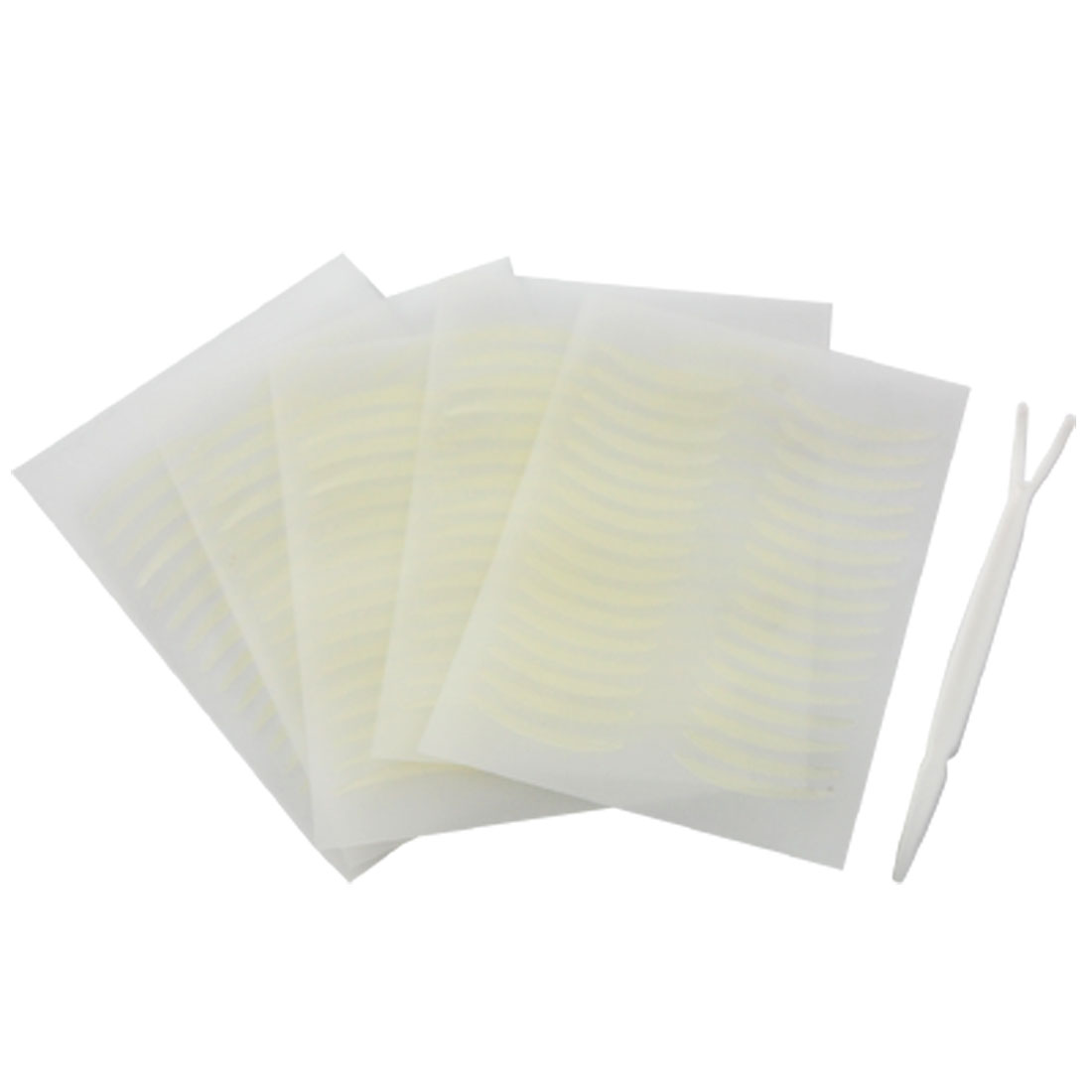 80 Pair Adhesive Double Eyelid Maker Sticker Pad w Plastic White Clip