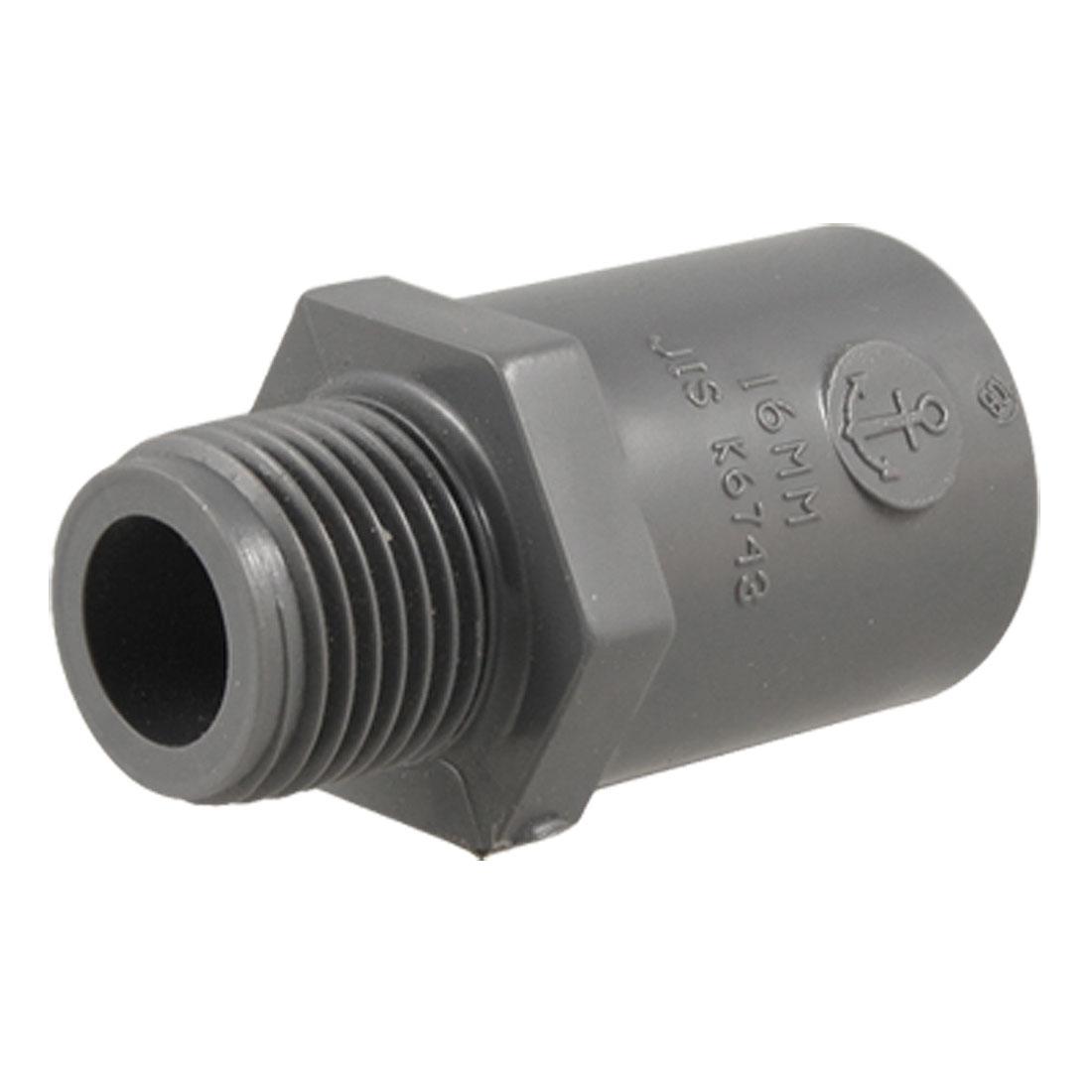22mm Hole Inner Diameter Male Thread PVC Pipe Adapter