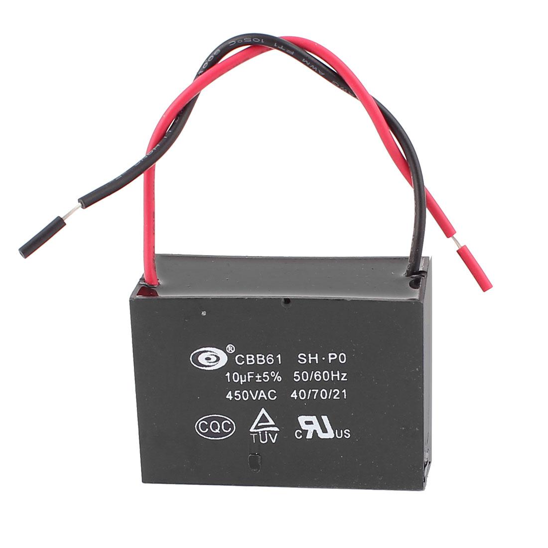 10uF AC 450V Motor Running Metallized Capacitor CBB61