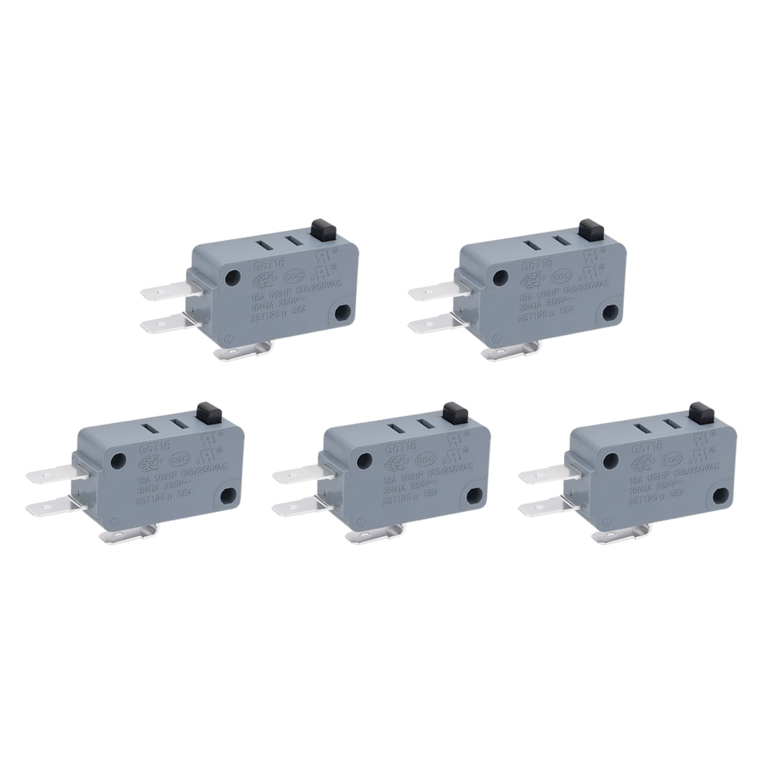 5pcs G5T16-E1Z200 AC125/250V Button Actuator SPDT Micro Miniature Switch