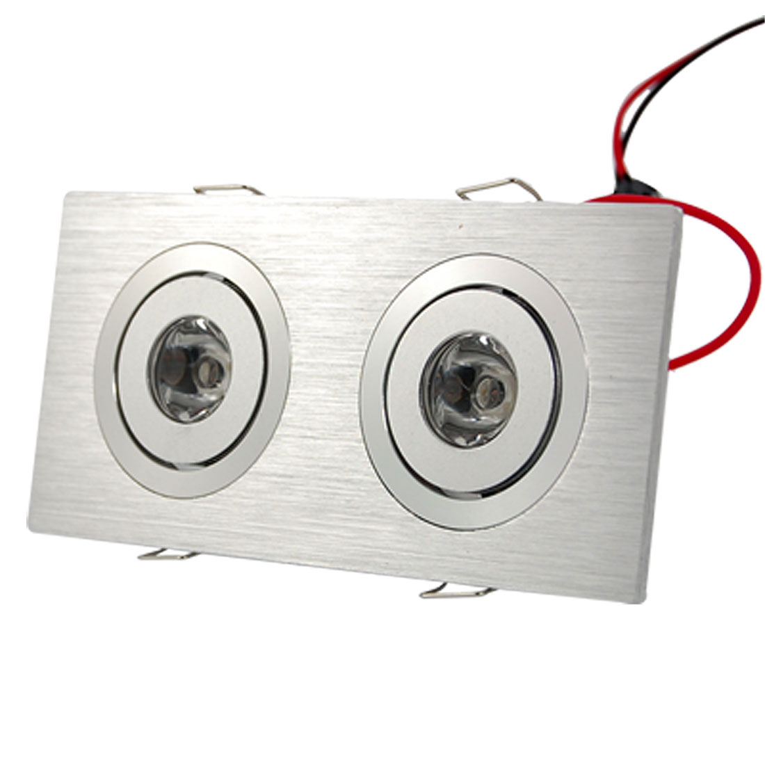 2700K 2x1W Yellow Light Dual Head LED Celling Recessed Downlight