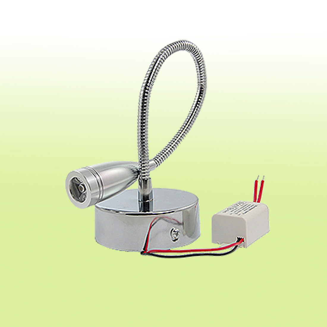 Warm White Light 1 LED Flexible Neck Spotlight Bulb 3200K 3W