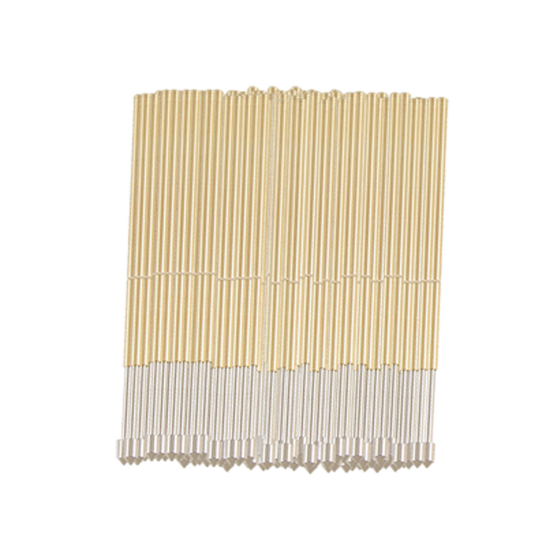 100 Pcs 1.2mm Dia Convex Tip Spring Loaded Testing Probe