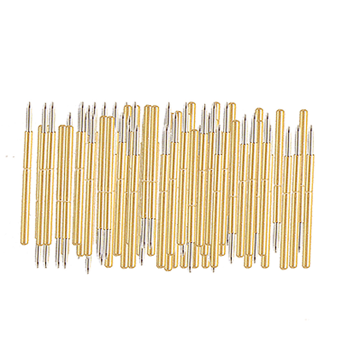 P100-B Spear Tip Spring Load Test Probes Gold Tone 100 Pcs