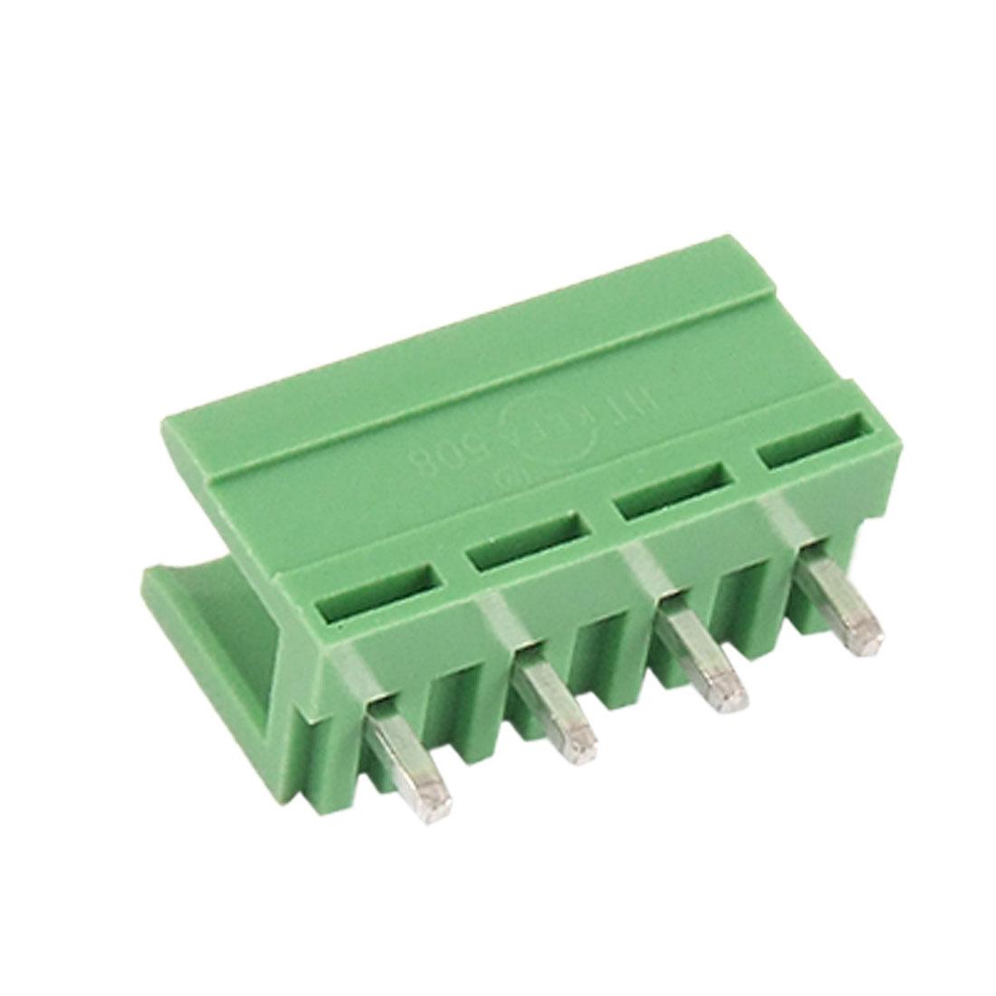 10 Pcs 5mm Pitch 4P 4-Way Terminal Block AC 220V 5A