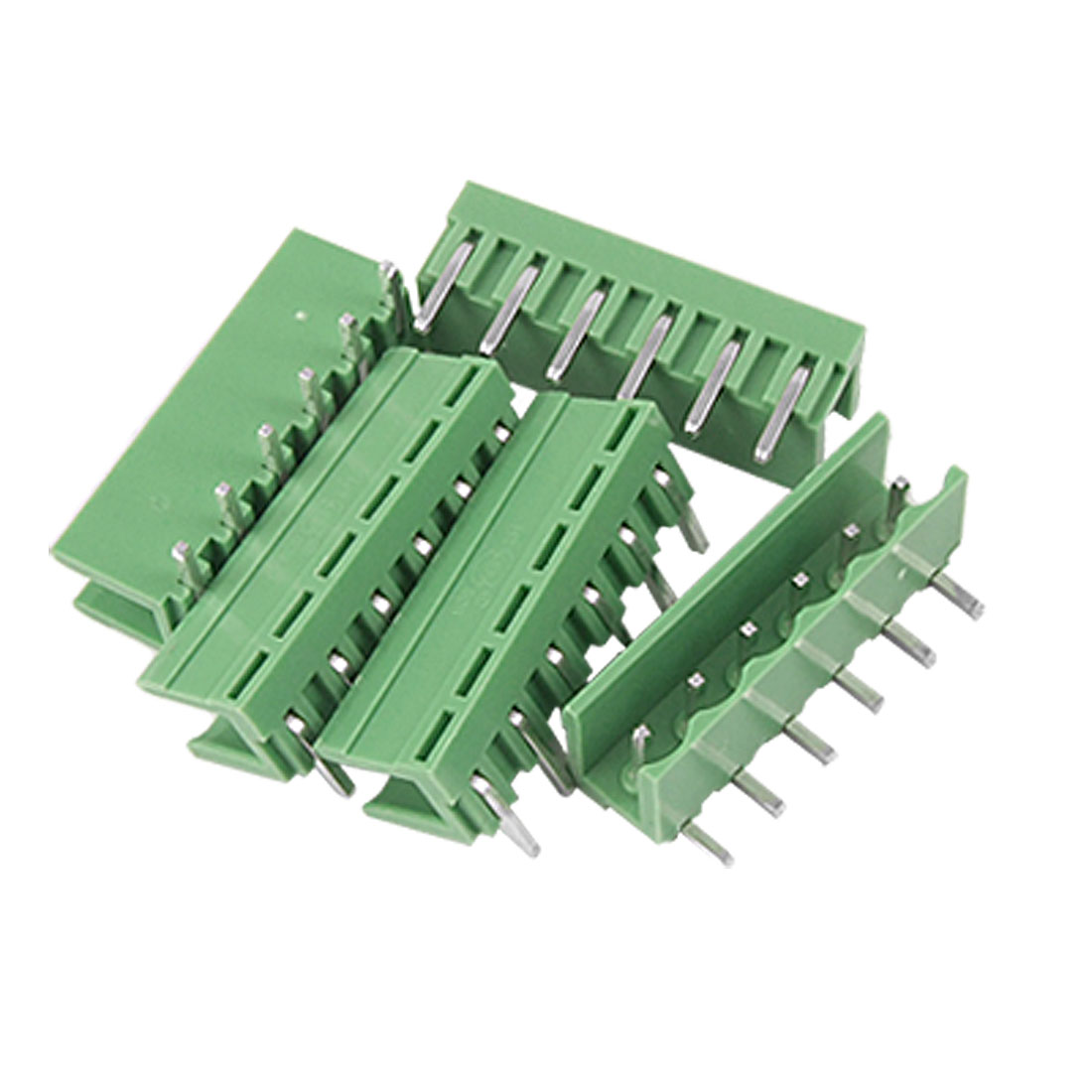 5 Pcs 5.08mm Pitch 6P Bent Pin Header Pluggable Terminal Block AC 220V