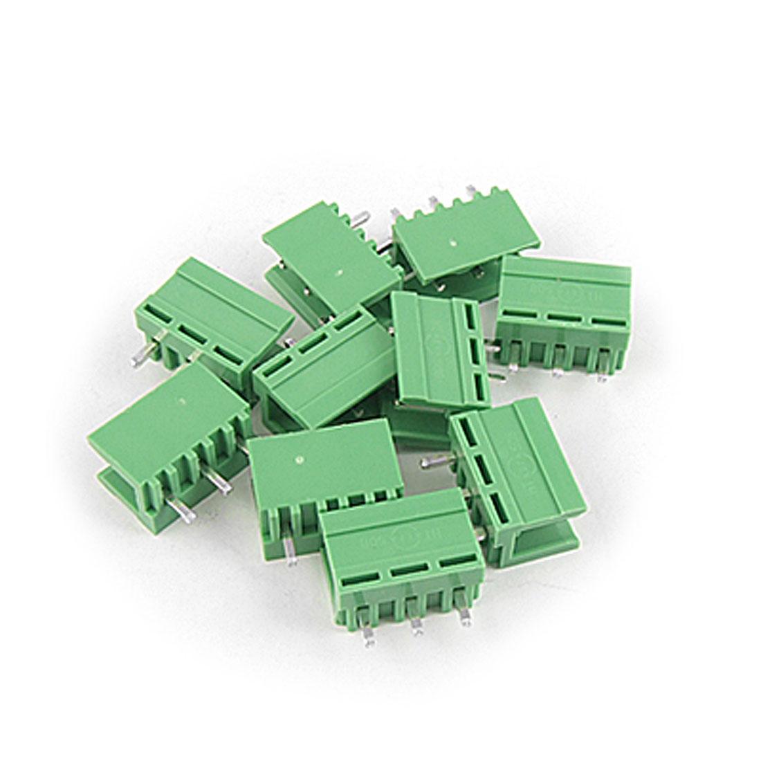 10 Pcs 3P 5.08mm Pitch PCB Pluggable Terminal Block AC 220V