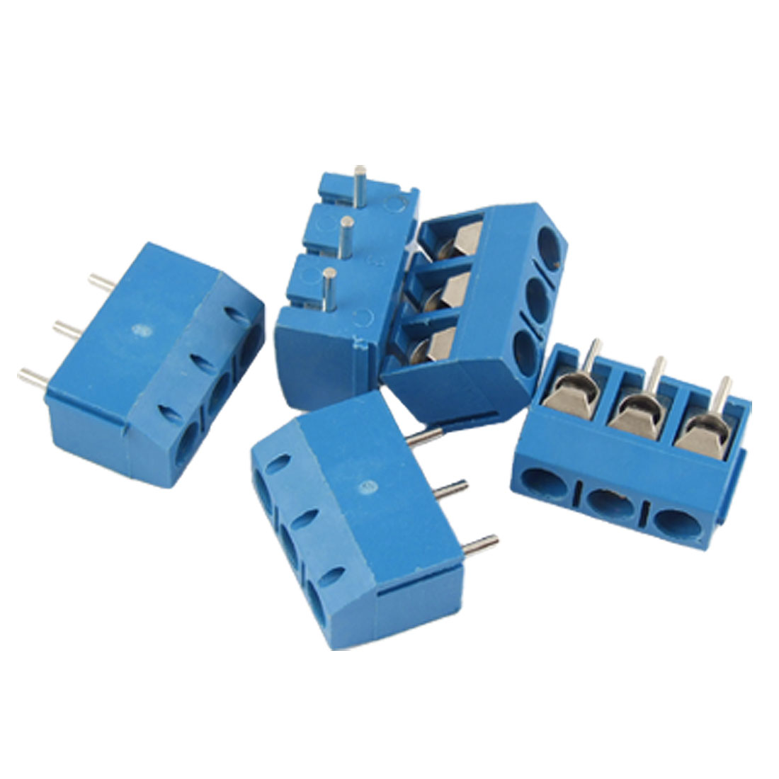5 Pcs 3 Position PCB Mount Terminal Block Connector AC 300V 16A