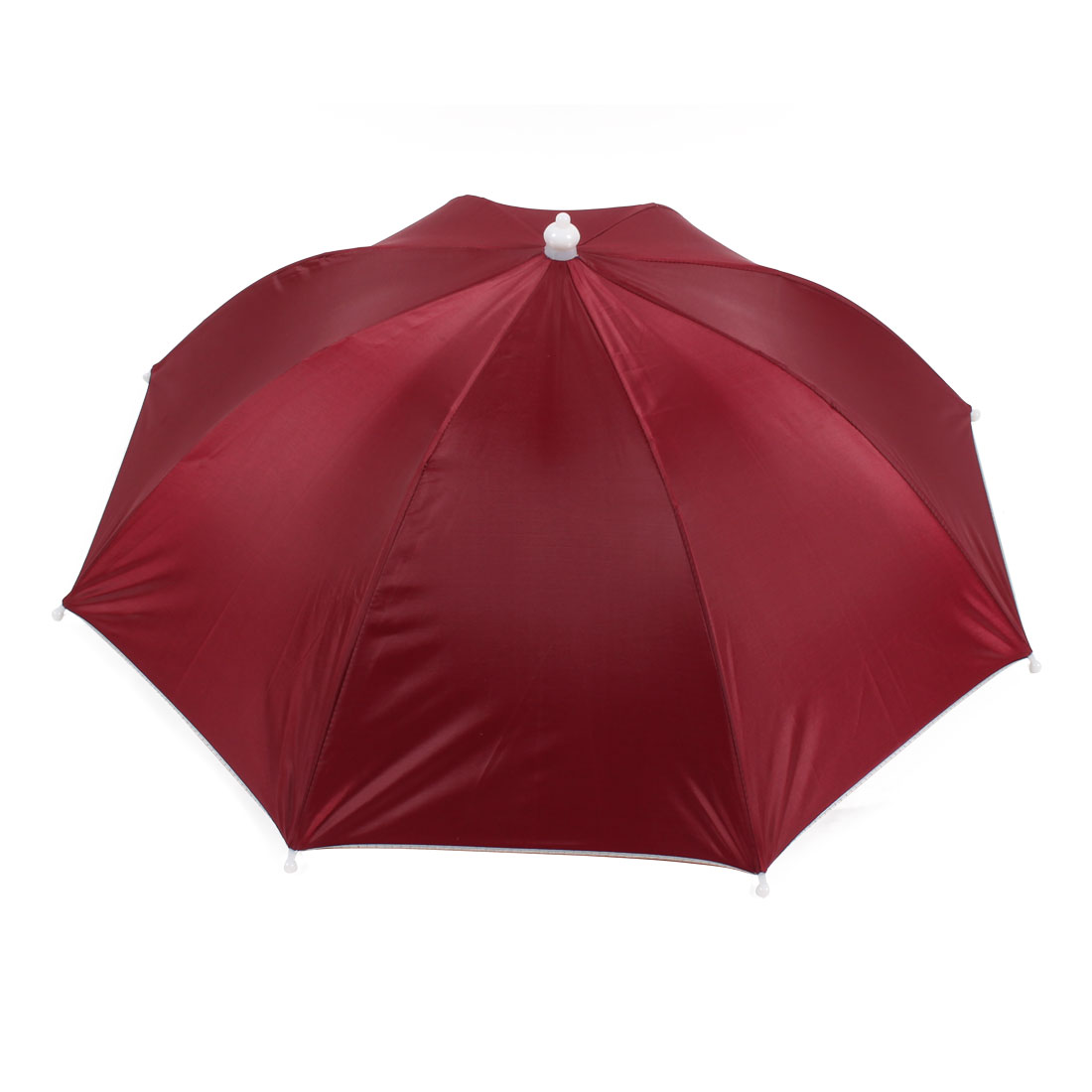 "16.1"" Long Handfree Elastic Head Band Burgundy Umbrella Hat"