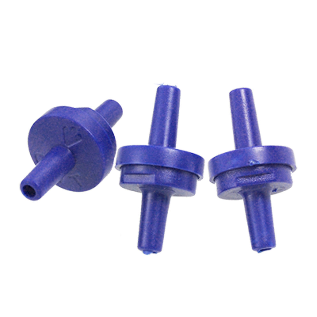3 Pcs Blue Plastic Air Pump Outlet Check Valves for Aquarium Tank