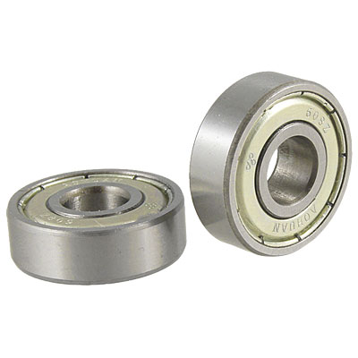 2 Pcs Single Shielded 608Z Miniature Deep Groove Ball Bearings