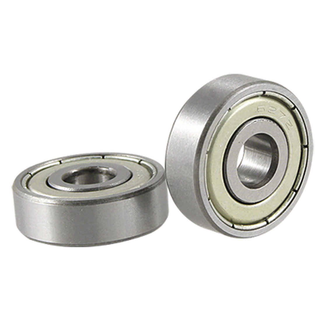 2 Pcs 627Z 7 x 22 x 7 Miniature Deep Groove Bearings