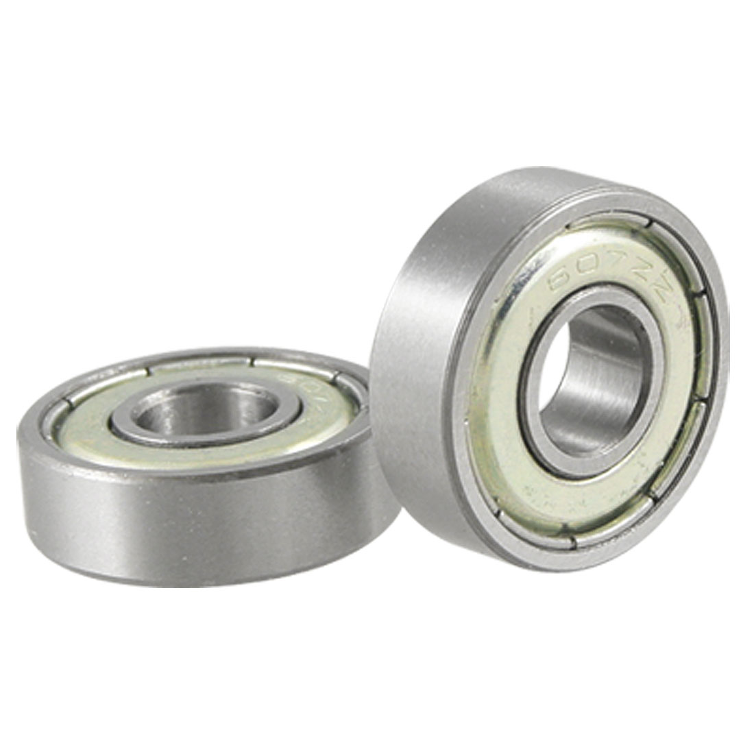 2 Pcs 7 x 19 x 6 607ZZ Double Shielded Deep Groove Ball Bearings