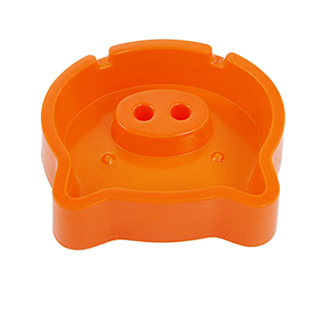 Home Office Decor Orange Plastic Cigar Cigarette Pig Style Ashtray