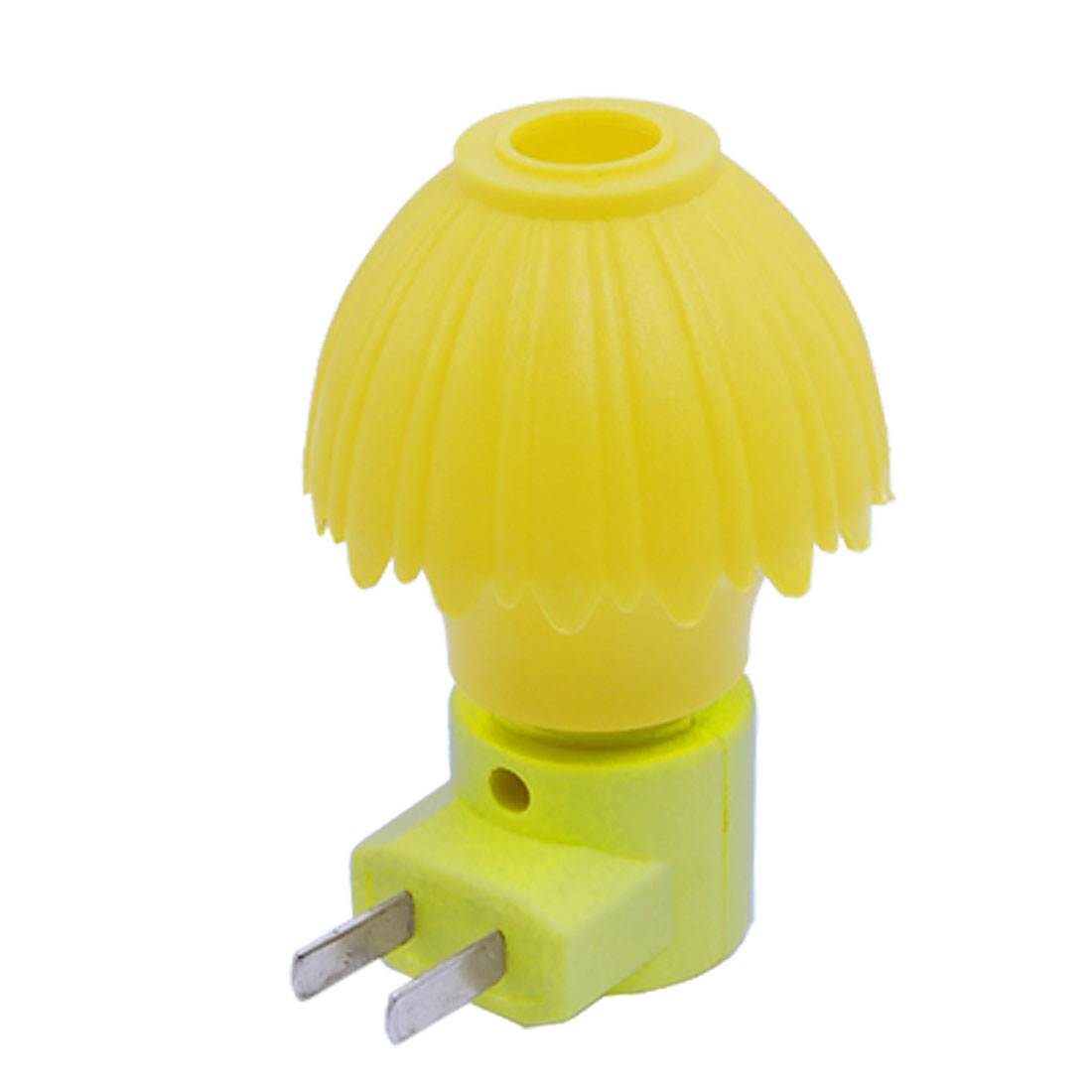 US Plug AC 110-240V Bedroom Mini 3 Modes Plastic Case Yellow Light Night Bulb