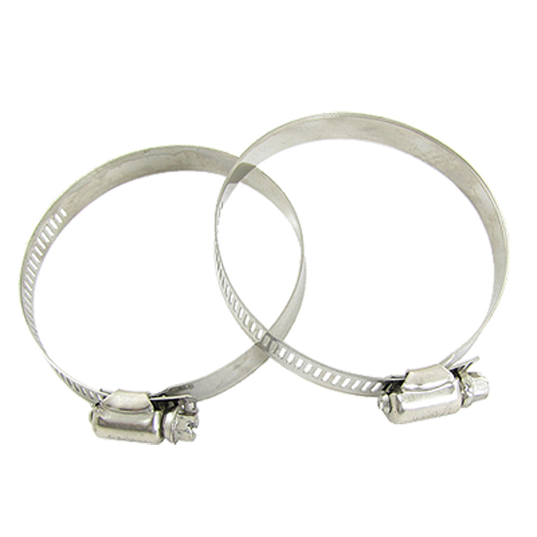 Fuel Injection Gas Water Pipe Hose Clamps 78-101mm Hoop 2 Pcs