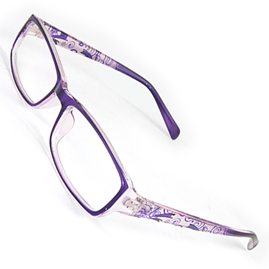Lady Purple Glossy Full Frame Plastic Arms Multi-coated Lens Plano Glasses