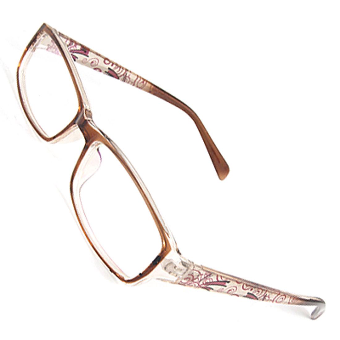Lady Brown Full Frame Plastic Multi-coated Lens Plain Glasses