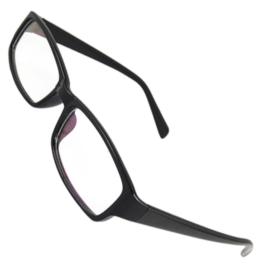 Full Frame Plastic Glossy Black Multi-coated Lens Plano Glasses for Ladies
