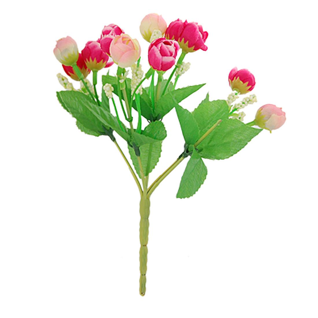 """Decorative 8"""" Height Artificial Fuchsia Flower Bouquet"""