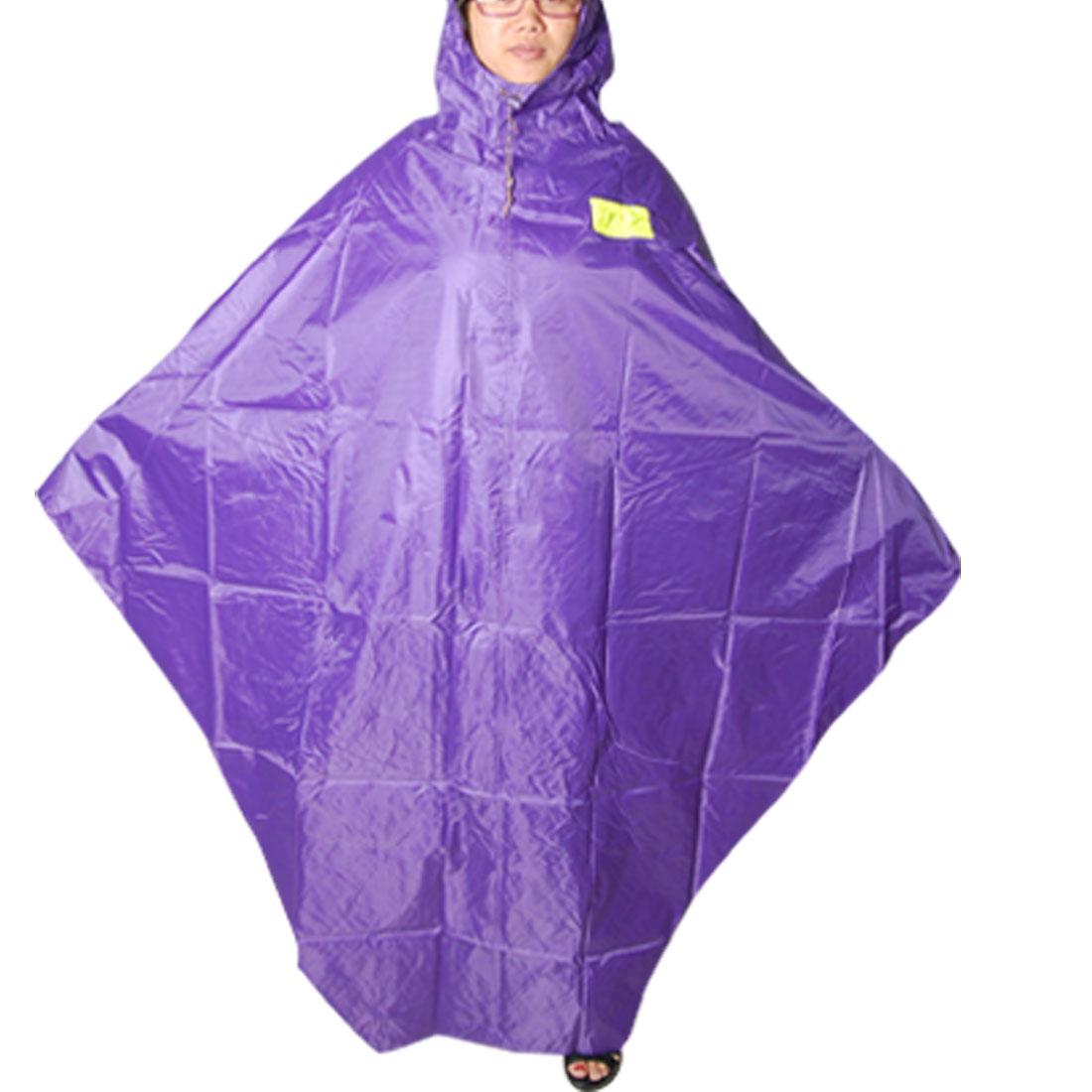 Bicycle Raincoat Seams Sealed Purple Hooded Rain Poncho
