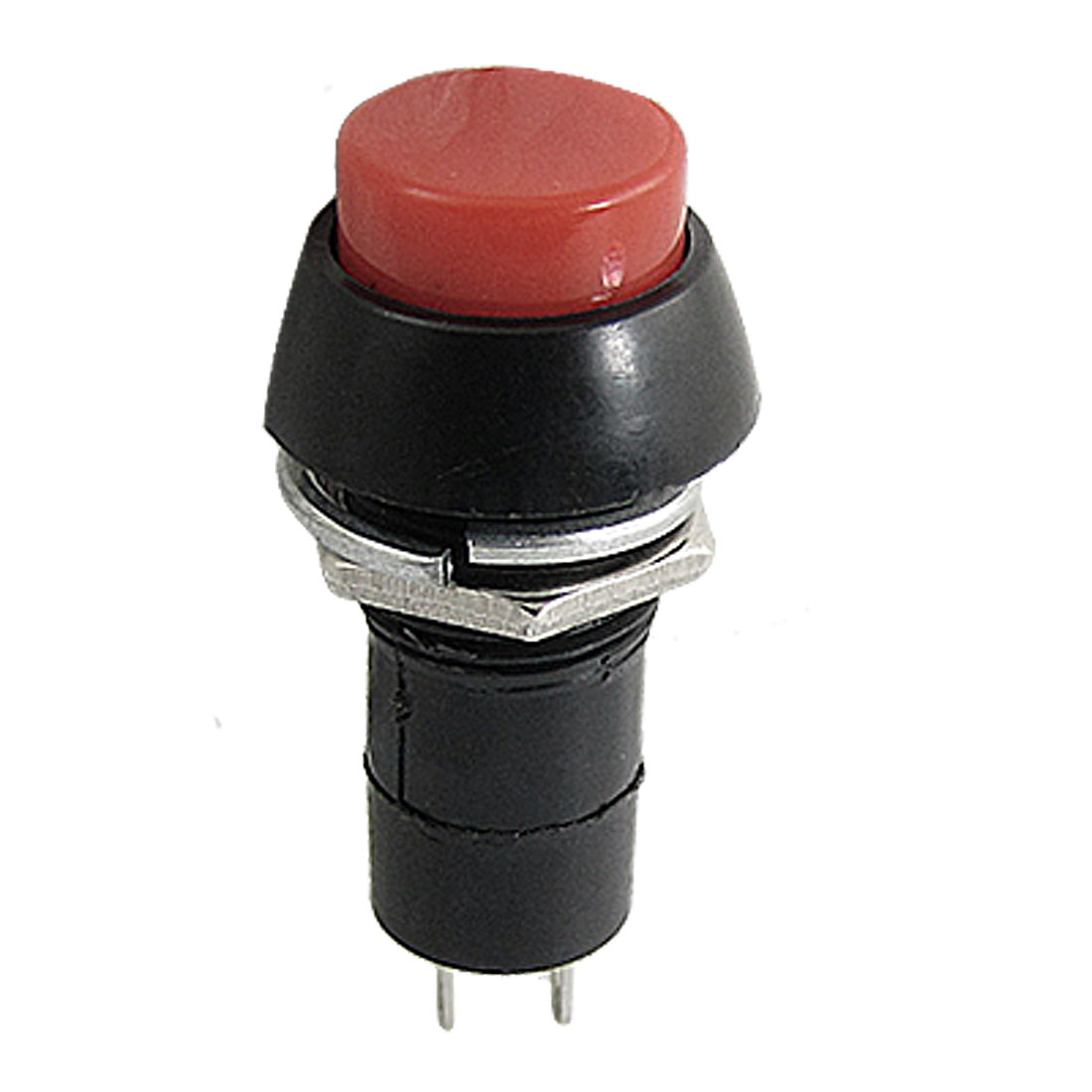 Red SPST Momentary Dash OFF-(ON) N/O Round Push Button Switch 3A 250V AC