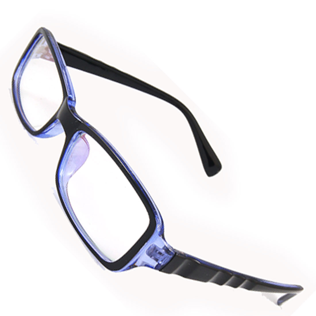 Full Frame Plastic Glossy Blue Multi-coated Lens Plano Glasses for Men