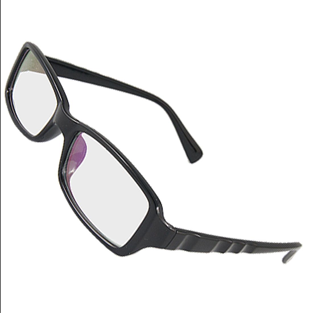 Full Frame Plastic Glossy Black Multi-coated Lens Plano Glasses for Men