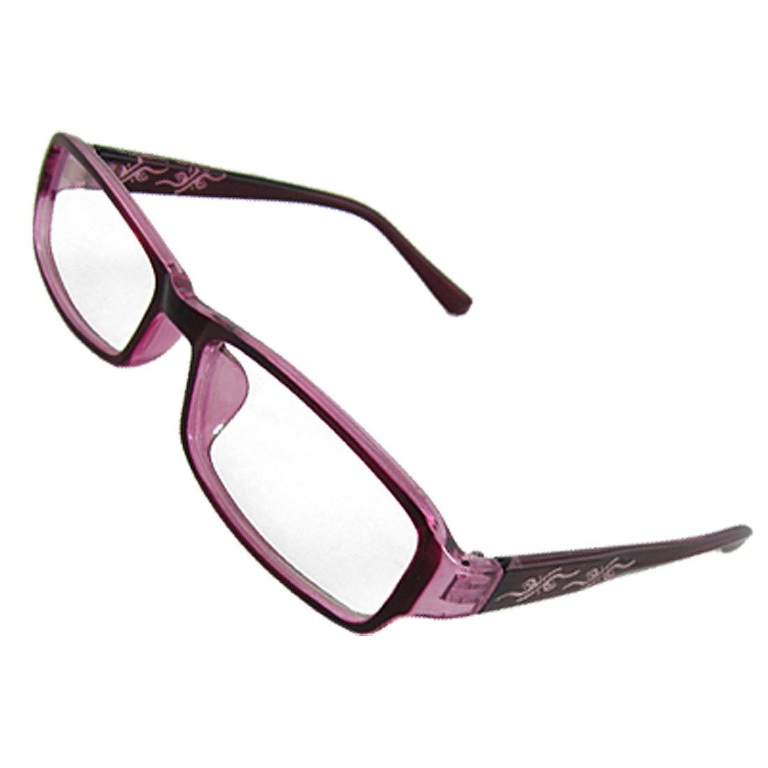 Lady Amaranth Plastic Frame Rectangle Multi Coated Lens Plano Glasses