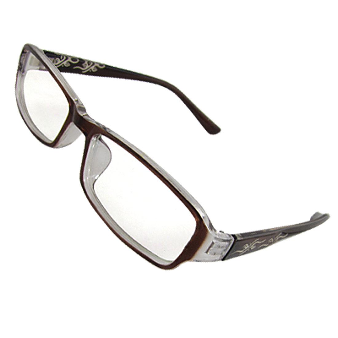 Lady Brown Plastic Full Frame Multi-coated Lens Plain Glasses