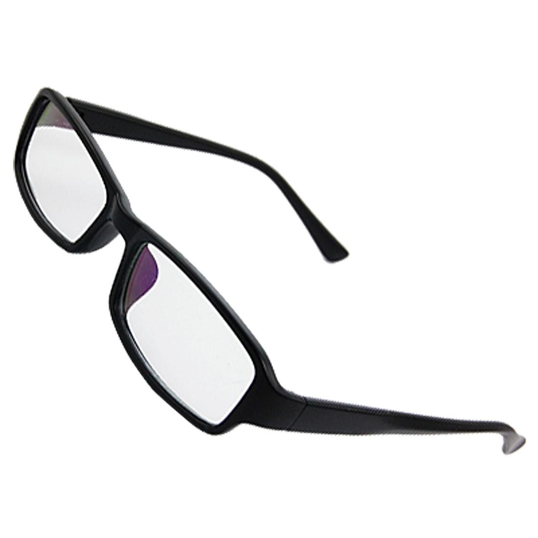 Unisex Multi Coated Lens Black Plastic Arms Plain Glasses