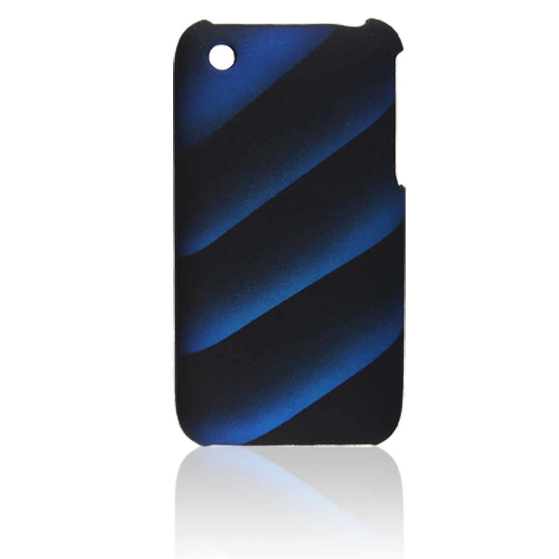 Blue Black Stripe Hard Plastic Back Cover for iPhone 3G