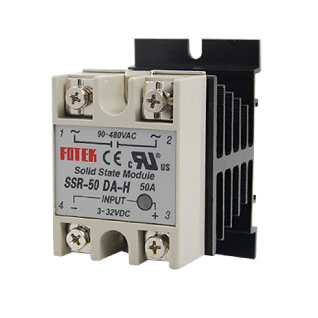Single Phase SSR Solid State Relay SSR-50DA-H 50A AC 90--480V w Heat Sink