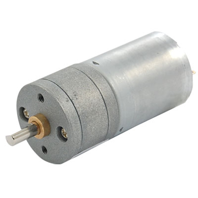 80RPM Output Speed 12V Rated Voltage Round DC Geared Motor
