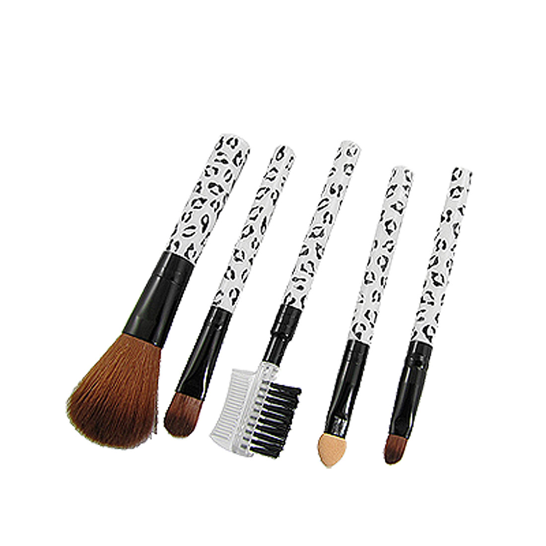 Black White Leopard Pattern Handle Eyebrow Face Makeup Brush