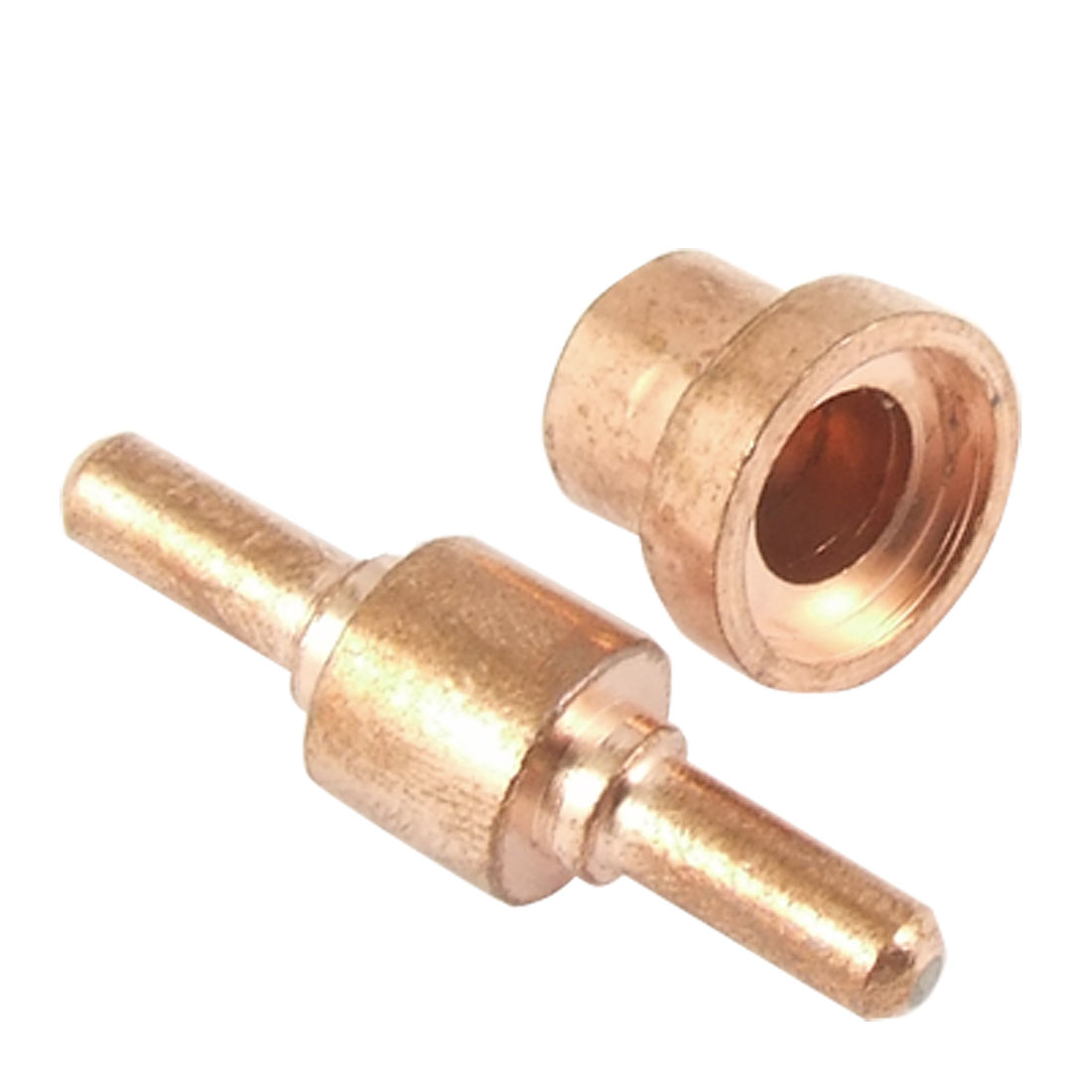 Replacement Copper Tone Welding Double Head Tip w Nozzle