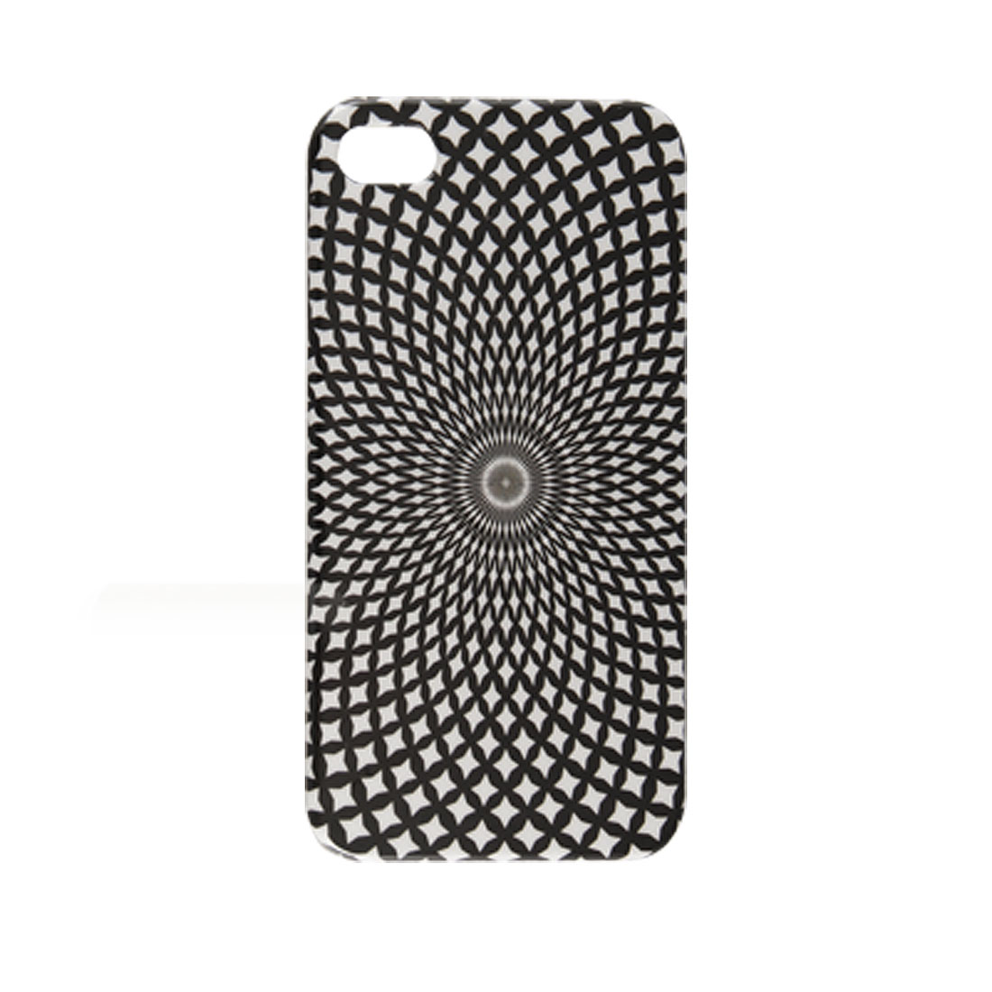 Black White Net Pattern IMD Back Protector for iPhone 4 4G