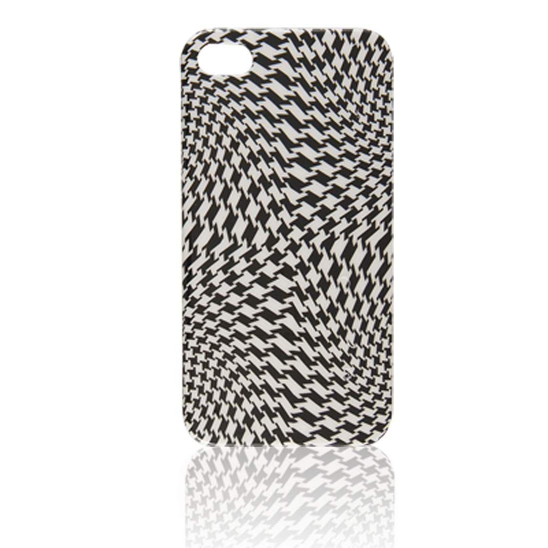 Houndstooth Pattern White Black IMD Back Protector for iPhone 4 4G