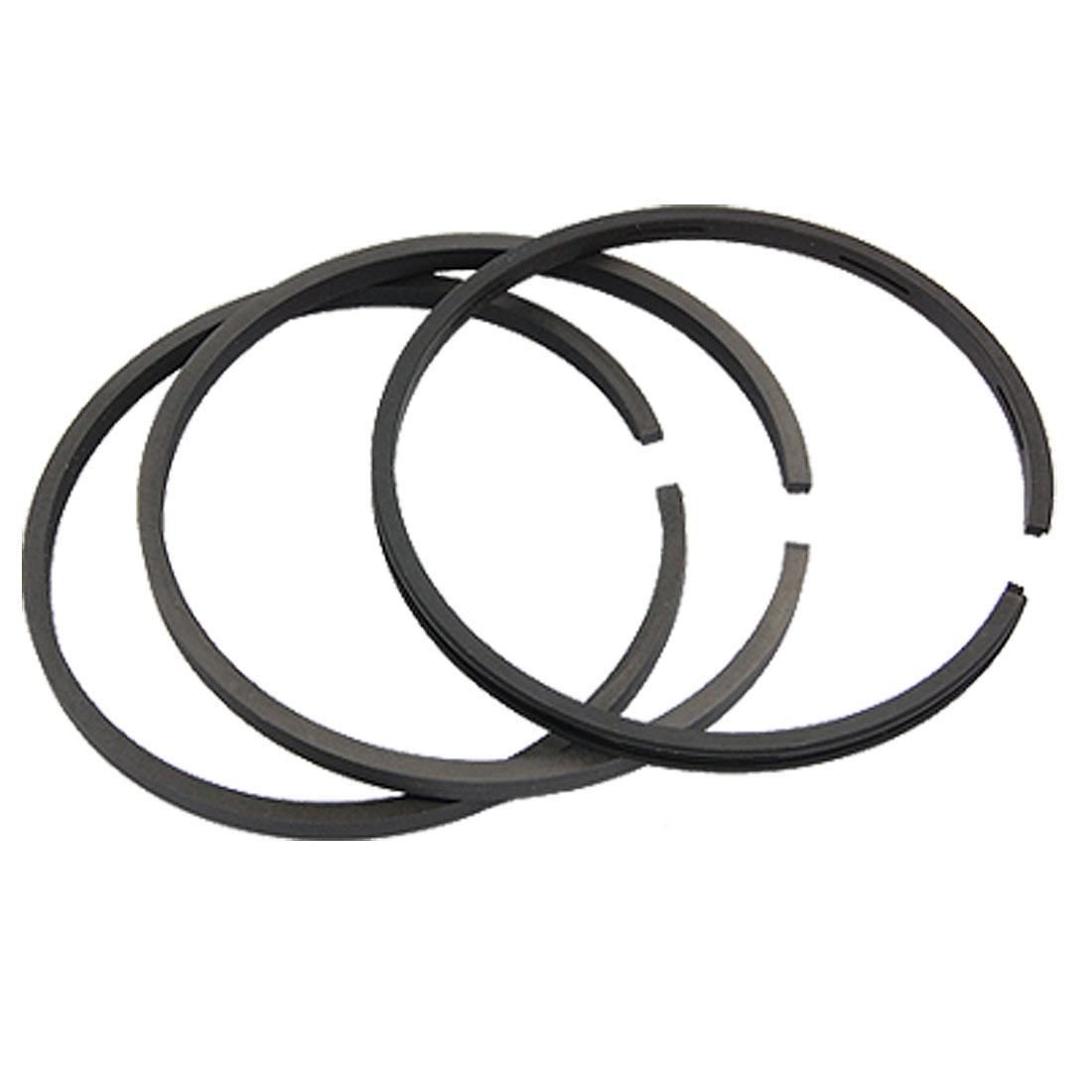 Air Compressor Replacement 105.66mm Inner Diameter Piston Rings Set 3 Pcs