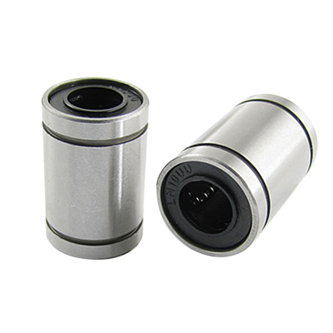 2 Pcs LM10 Carbon Steel Linear Motion Ball Bearings