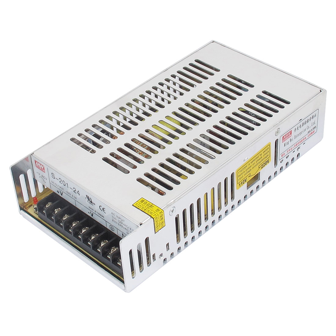 AC 110/220V DC 24V 8.3A 200W Triple Output Switching Power Supply Driver for LED Strip Light