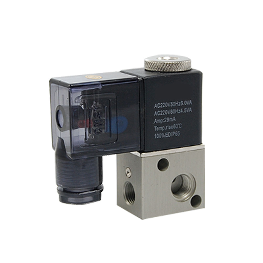AC 220V 29mA 2 Positions 3-Way Pneumatic Solenoid Control Valve