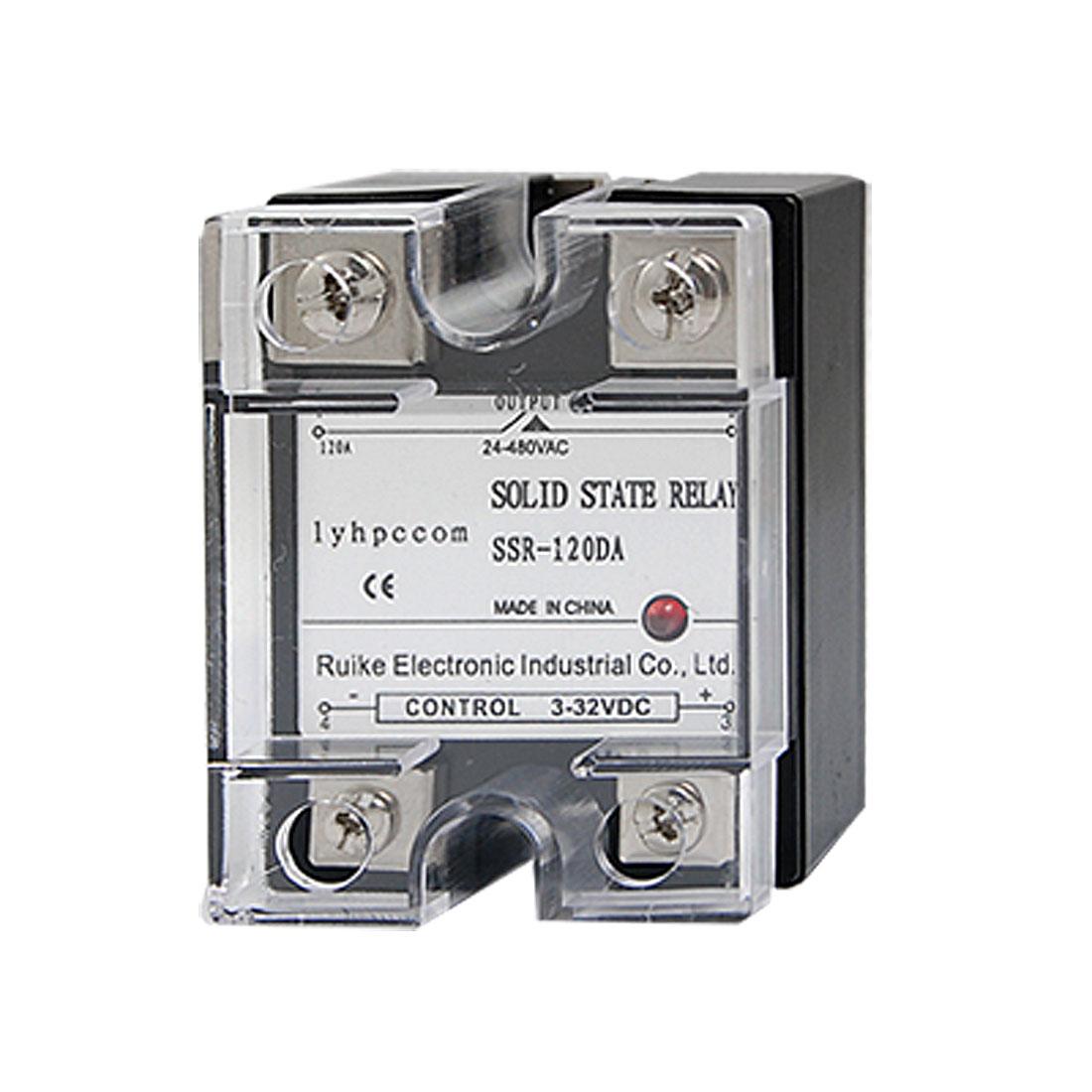 SSR120DA DC3-32V to AC24-480V 120A SSR Solid State Relay