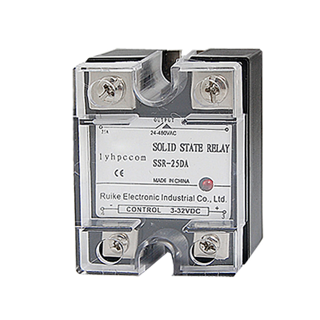 DC to AC 25A Solid State Relay SSR 25A 3-32V DC 24-480V AC